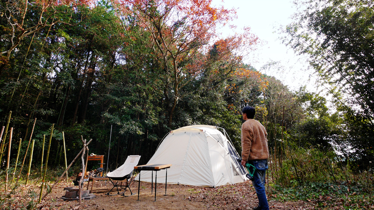 CAMP #9 シェルターで贅沢ソロキャンプ
