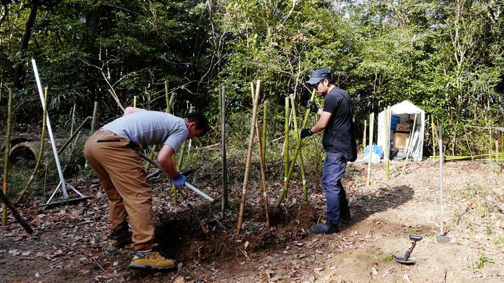 開拓Act.14|竹伐根で北側サイト拡張